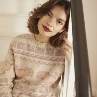 Inka Alpaka Strickpullover ACHIY Model Winter