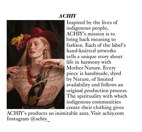 Vogue ACHIY Designer Story - einheimische handgestrickte Alpaka-Mode aus Hamburg