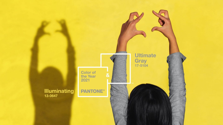 "Farbe des Jahres ""ultimate grey"" und ""illuminating"""